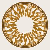 Скороговорка современных, netrivail и простого цвета круглая геометрическая круглая иллюстрация штока
