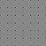 Скороговорка с мозаикой излучать линии Monochrome предпосылка Стоковые Фото