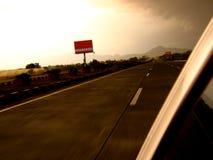 скоростная дорога вечера Стоковая Фотография