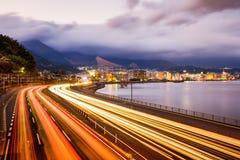 Скоростная дорога Beppu, Японии Стоковое фото RF