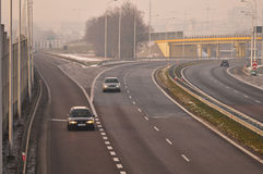 Скоростная дорога S17 близко к Люблину, Польше Стоковое Изображение RF