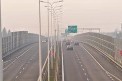 Скоростная дорога S17-S12 близко к Люблину, Польше Стоковое Изображение RF