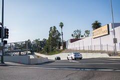 скоростное шоссе 101 в Лос-Анджелесе Стоковое Изображение RF