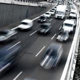Скоростное шоссе в утре Стоковые Изображения RF