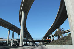 Скоростное шоссе в южной Калифорнии Стоковые Изображения RF