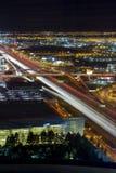 Скоростное шоссе Лас-Вегас на ноче стоковое изображение rf