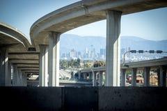 Скоростное шоссе Лос-Анджелеса Калифорнии 105 Стоковое Изображение RF