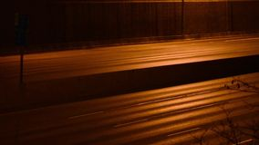 Скоростное шоссе на ноче видеоматериал
