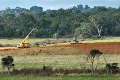 скоростное шоссе earthworks Австралии стоковое изображение