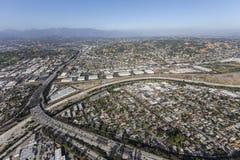 Скоростное шоссе Glendale в Лос-Анджелесе Калифорнии Стоковые Фотографии RF