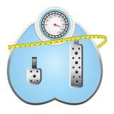 Скорость вверх по потере веса иллюстрация штока