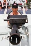 скорость воина шлюпки Стоковая Фотография