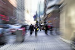 Скорость времени показанная в улицах города Стоковые Фото
