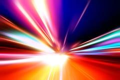 скорость дороги ночи движения стоковое фото