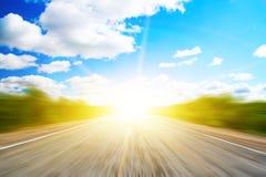 скорость дороги пущи Стоковая Фотография