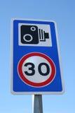 скорость знака камеры Стоковое Изображение