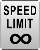 скорость знака предела Стоковые Фото