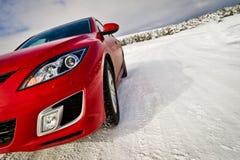 скорость красного цвета автомобиля Стоковое Изображение