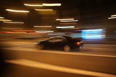 Скорость ночи стоковая фотография