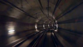 Скорость поезда тоннеля сток-видео