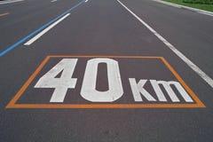скорость предела Стоковая Фотография