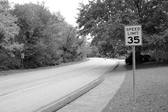 скорость 35 пределов Стоковые Изображения