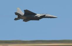 скорость двигателя самолет-истребителя высокая Стоковые Изображения RF