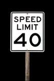 скорость 40 пределов стоковые изображения