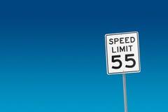 скорость 55 пределов Стоковое Изображение