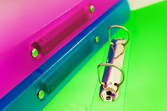 скоросшиватели пестротканые 3 Стоковое Изображение RF