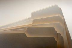 скоросшиватели manilla Стоковое фото RF