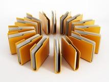 скоросшиватели архивов 3d представляют стоковые фото