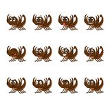 Скорпион с различными выражениями лица Стоковое Изображение