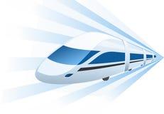 Скорый поезд быстро проходя в движении Стоковое фото RF