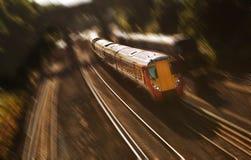 Скорый поезд стоковая фотография