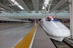 скорый поезд китайского crh Стоковое Фото
