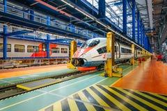 Скорый поезд Стоковое Фото