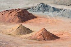 Скотный двор песков, камешков и компоситов около Гавр, Франции стоковая фотография