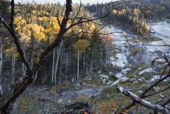 Скольжение гранита в горах Adirondack Стоковые Изображения RF