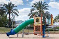 Скольжения и спортивные площадки детей Парк спортивной площадки Стоковые Фото