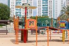 Скольжения и спортивные площадки детей Парк спортивной площадки Стоковые Изображения
