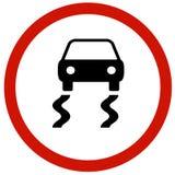Скользкая доска дорожного знака Стоковое Изображение
