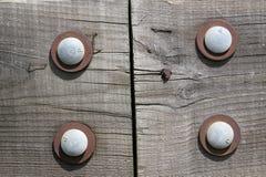 скрепленная болтами древесина Стоковые Фото