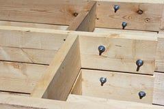 Скрепленное болтами соединение на строительной площадке стоковые фотографии rf
