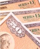 скрепленные сбережения Стоковая Фотография RF
