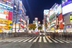 Скрещивание борьбы Shibuya в токио на ноче, Японии Стоковое Изображение RF
