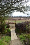 Скрещивание и строб потока сельской местности. Стоковая Фотография