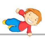 Скрещивание мальчика над высокой штангой Стоковые Изображения RF