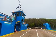 Скрещивание моста парома короля Гарри от Feock к Philleigh стоковая фотография rf