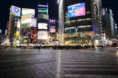 Скрещивание станции Shibuya, Токио   Стоковая Фотография
